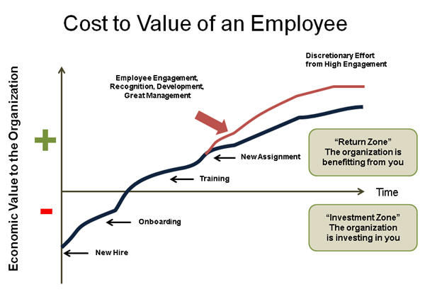 Economic Value of an Employee to the Organization over Time (C) Bersin by Deloitte